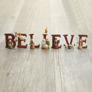 Believe Nativity Figurines