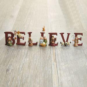 Believe Nativity Figurines