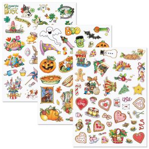 Mary Engelbreit® Year-Round Holidays Sticker Value Pack