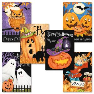 Happy Haunting Halloween Cards Value Pack