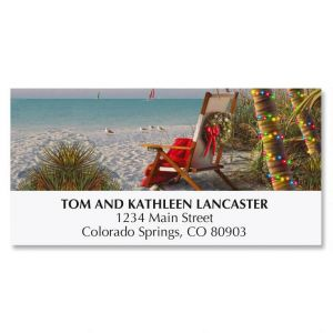 Tropical Breeze Christmas Deluxe Address Labels