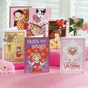 Mary's Hearts Flowers Valentine Cards