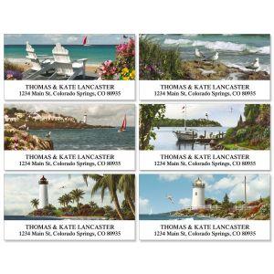Seashores Deluxe Address Labels  (6 Designs)