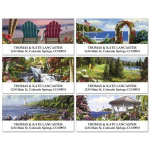 Scenery Deluxe Address Labels  (6 designs)