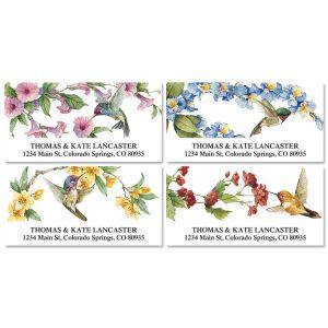 Hummingbirds Deluxe Address Labels  (4 Designs)