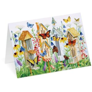 Butterfly Houses Note Cards