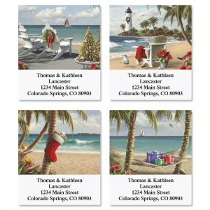 Tropical Christmas Address Labels  (4 designs)