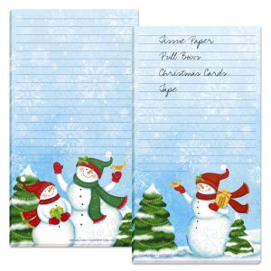 Snowy Days Magnetic Lined Notepads
