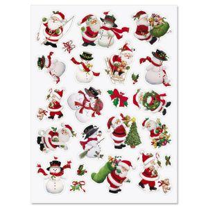 Santa & Snowman Stickers