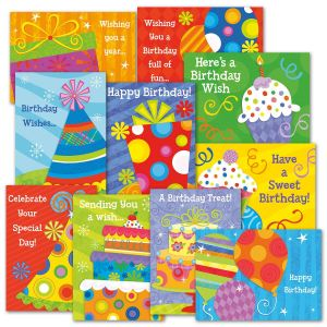 Birthday Celebration Greeting Card Value Pack