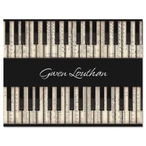 Keyboard Note Cards