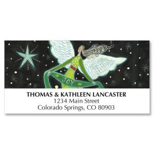Peace Angel Christmas Deluxe Address Labels