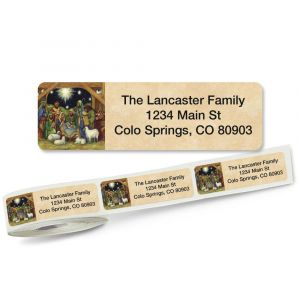 Nativity Rolled Address Labels