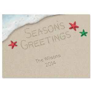 Warm Weather Holiday  Personalized Classic Christmas Cards