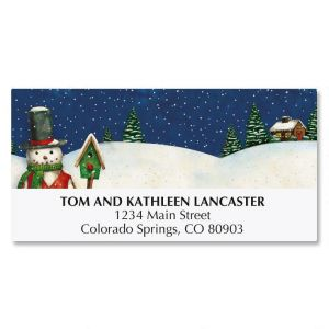 Snowman Deluxe Address Labels