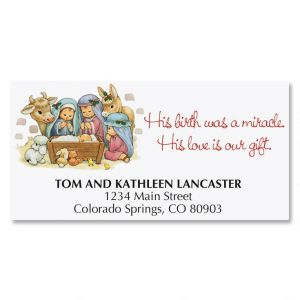 His Love Is Our Gift Deluxe Address Labels