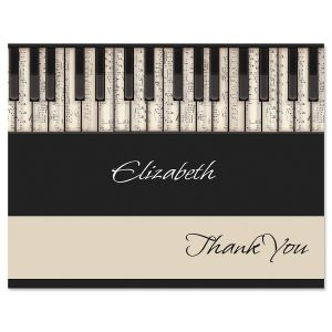 Keyboard Thank You Cards