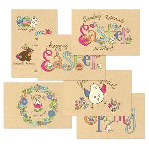Egg-Citing Kraft Easter Cards Value Pack