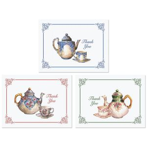 Tea Time Thank You Note Cards
