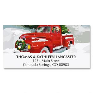 Red Truck Address Labels