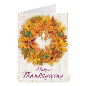 Autumn Wreath Thanksgiving Cards