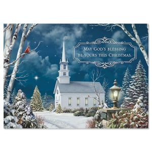 Holy Night Nonpersonalized Christmas Cards - Set of 18