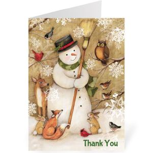 Woodland Christmas Holiday Thank You Note Cards