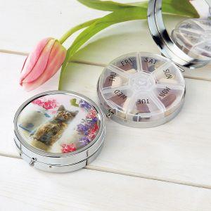Sweet Kitten Decorative Round Metal Pill Box