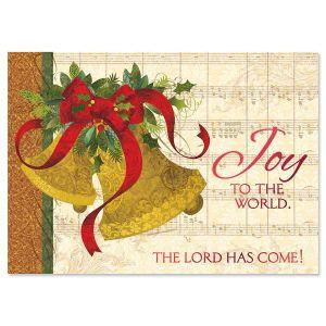 Joyful Bells Deluxe Foil Religious Christmas Cards