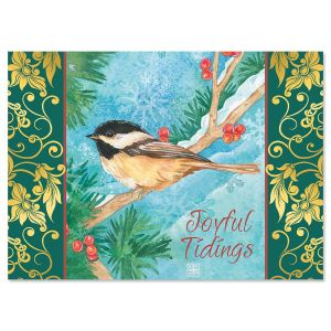 Chickadee Deluxe Christmas Cards
