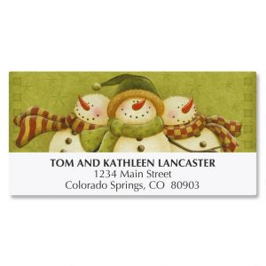 Melt My Heart Snowmen Address Labels