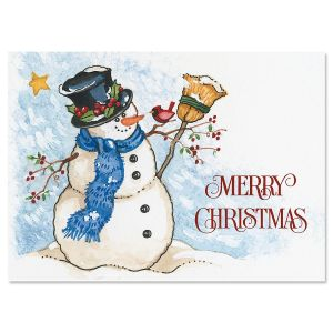 Snowman & Sweet Bird  Christmas Cards