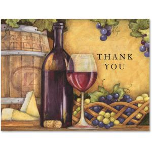 Wine Country Thank You Note Cards