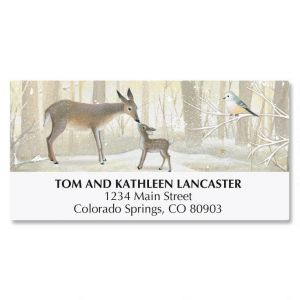 Deer and Fawn Deluxe Address Labels