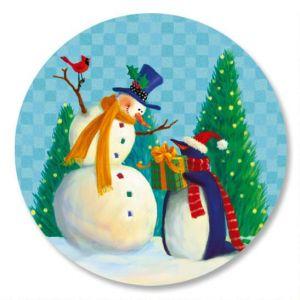 Holiday Friends Envelope Sticker Seals
