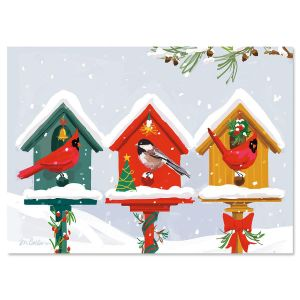 Holiday Birdhouse Christmas Cards