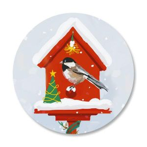 Holiday Birdhouse Seals