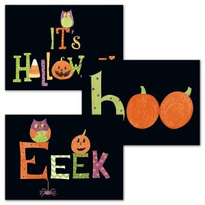 Damask Halloween Cards