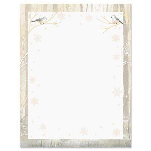 Deer and Fawn Christmas Letter Papers