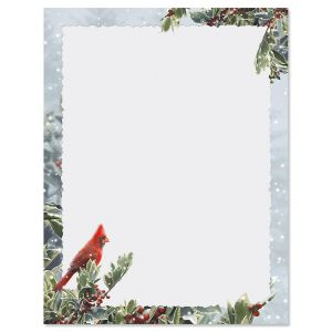 Winter Solitude Christmas Letter Papers