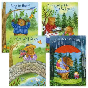 Bear Hug Get Well Cards and Seals