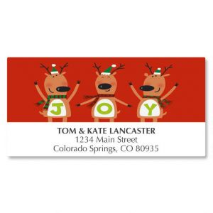 Reindeer Joy Deluxe Address Labels