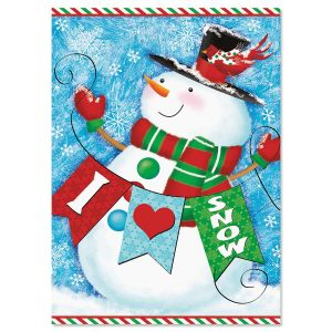 Snowman Love Christmas Cards