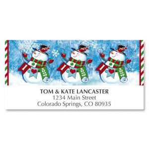 Snowman Love Deluxe Address Labels