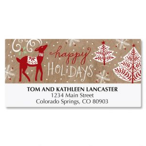 Woods in Winter Deluxe Address Labels