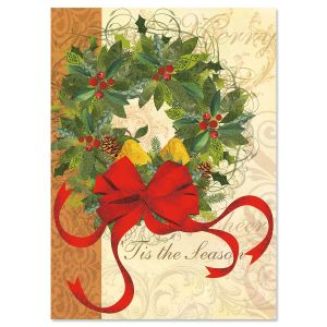 Winter Garden Wreath Christmas Cards