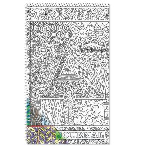Monogrammed Coloring-Cover Journal