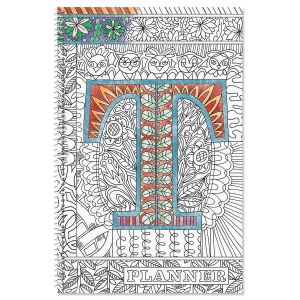 Monogrammed Coloring-Cover Planner