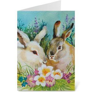 Bunny Couple Easter Cards