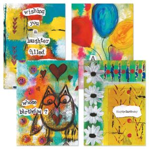 Painterly Birthday Cards
